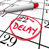 Delay Calendar Schedule Missed Date Appointment Meeting Pushed B Royalty Free Stock Image