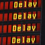 Delay information display Royalty Free Stock Photo