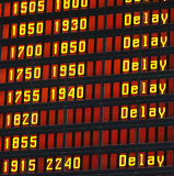 Delay information display. Information display with a delay message Royalty Free Stock Photo