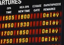 Delay information display Stock Photos