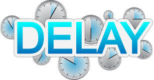 Delay text banner Royalty Free Stock Photos