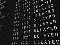 Delayed Flights Royalty Free Stock Photo