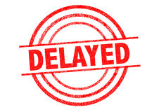 DELAYED Rubber Stamp Stock Images