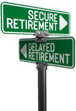 Delayed or Secure Retirement fund plan Royalty Free Stock Photos