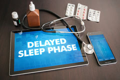 Delayed sleep phase (neurological disorder) diagnosis medical  Stock Images
