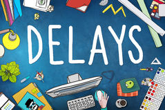 Delays Interruption Late Obstruction Suspend Concept Royalty Free Stock Images