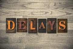 Delays Wooden Letterpress Theme Royalty Free Stock Image
