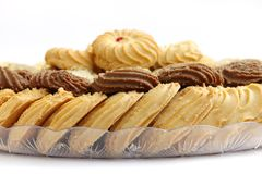 Delcious Biscuits and cookies, focus on cocoa biscuits Stock Image