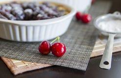 Delcious Cherry pie Stock Photo