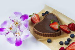 Delcious Chocolate tart Royalty Free Stock Photos