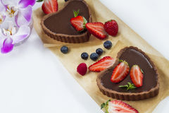 Homemade chocolate tart Stock Images