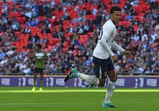 Dele Alli. Football players pictured during preseason friendly game game between Tottenham Hotspur and Juventus Torino on August 28, 5 at Wembley Stadium in Stock Photo