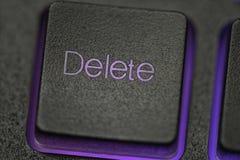 Deleatur klucz na klawiaturze Fotografia Royalty Free
