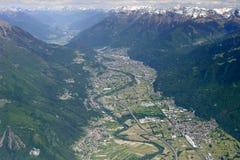 Delebio, Dubino και χαμηλότερο Valtellina, Ιταλία Στοκ εικόνες με δικαίωμα ελεύθερης χρήσης