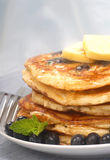 Delecious blueberry pancakes Royalty Free Stock Photos