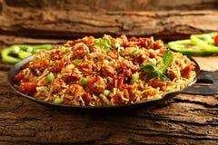 Delecious kurczaki smażący ryż Obraz Stock