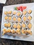 Delecious sushi fotografering för bildbyråer