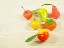Delectable imitation fruits or Lookchoup Stock Image