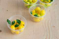 Delectable imitation fruits, Thai National Dessert. Stock Images