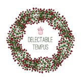 Delectable Tempus, wreath. Composed of branches with berries Stock Photography
