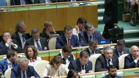 Delegação da Sérvia na assembleia geral de United Nations filme