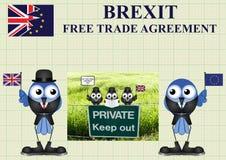 Delegación cómica del comercio de Reino Unido Fotografía de archivo