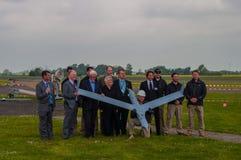Delegación de Boeing que presenta con el nuevo abejón del espía que es probado Foto de archivo