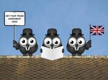 Delegación cómica del comercio de Reino Unido Imagen de archivo