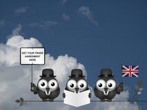 Delegación cómica del comercio de Reino Unido Fotos de archivo
