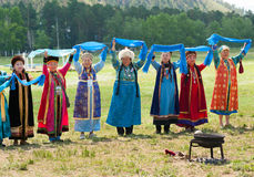 Delegados mayores del convenio de los Mongolians del mundo Imagen de archivo