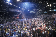 Delegates cheer for Clinton's nomination. At the 1992 Democratic National Convention at Madison Square Garden, New York Stock Photo