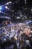 Delegates cheer for Clinton's nomination. At the 1992 Democratic National Convention at Madison Square Garden, New York Royalty Free Stock Photography