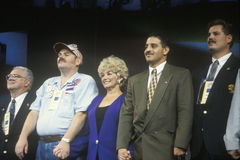 Delegates take the stage during the Presidential celebration at the 1992 Democratic Convention in Madison Square Garden, Manhattan Stock Photography