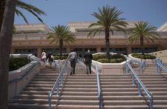 Delegates at Tampa Convention Florida USA. Delegates arriving up steps for a conference at the Tampa Convention Center downtown Tampa Florida USA. April 2017 Stock Images