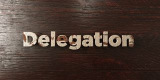 Delegation - grungy wooden headline on Maple  - 3D rendered royalty free stock image Royalty Free Stock Photos