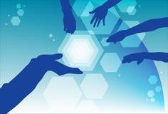 Delegation und Teamwork im Geschäft stock abbildung