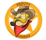 Delegato sceriffo royalty illustrazione gratis