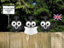 Delegazione comica di commercio del Regno Unito Fotografia Stock Libera da Diritti