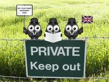 Delegazione comica di commercio del Regno Unito Fotografie Stock