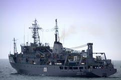 Delegazione ufficiale bulgara sulla nave da guerra Immagine Stock