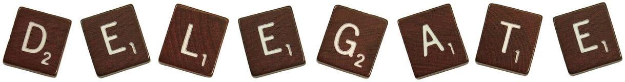 Delegierter Scrabblefliesen Lizenzfreies Stockbild