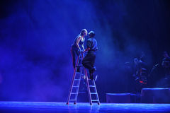 Deleitar com-se a identidade do sonho- do drama da dança do mistério-tango Fotos de Stock