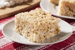 Deleite friável do arroz do marshmallow Fotografia de Stock Royalty Free