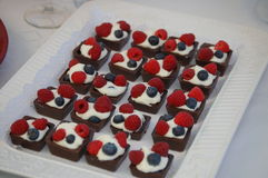 Deleites da sobremesa Fotografia de Stock Royalty Free