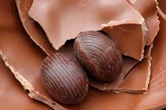 Deleites do chocolate da Páscoa Foto de Stock Royalty Free