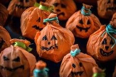 Deleites felizes da abóbora de Dia das Bruxas Foto de Stock Royalty Free