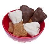 Deleites mergulhados chocolate do cão Fotografia de Stock Royalty Free