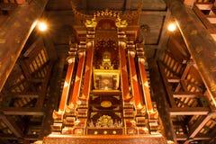 Delen av den heliga reliken av buddha i stupa Royaltyfria Bilder