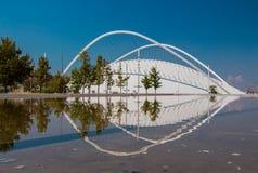 Delen av den olympiska idrotts- mitten av Aten Spiros Louis, Grekland Arkivfoton