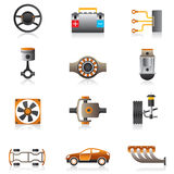 Delen van de motor van een auto Stock Foto